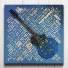 Blues Legends Canvas Blue