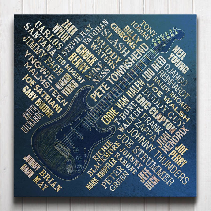 Guitar Legends Canvas Navy