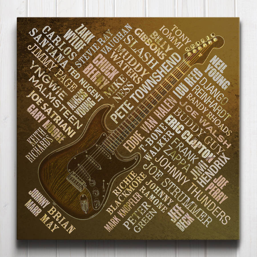 Guitar Legends Canvas Rust
