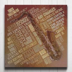 Jazz Legends Canvas Rust