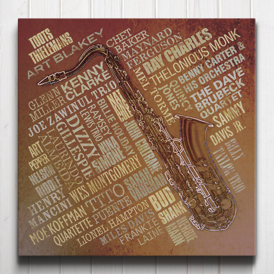 Jazz Legends Canvas Rust