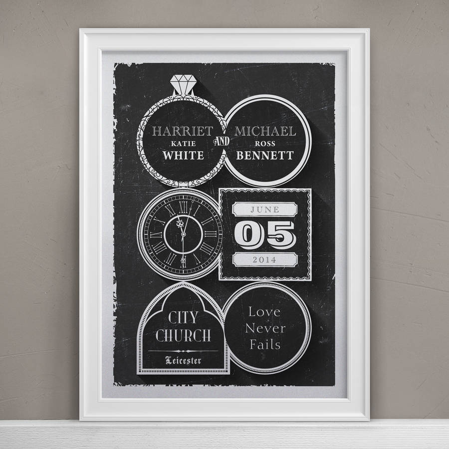 Personalised Wedding Day Print