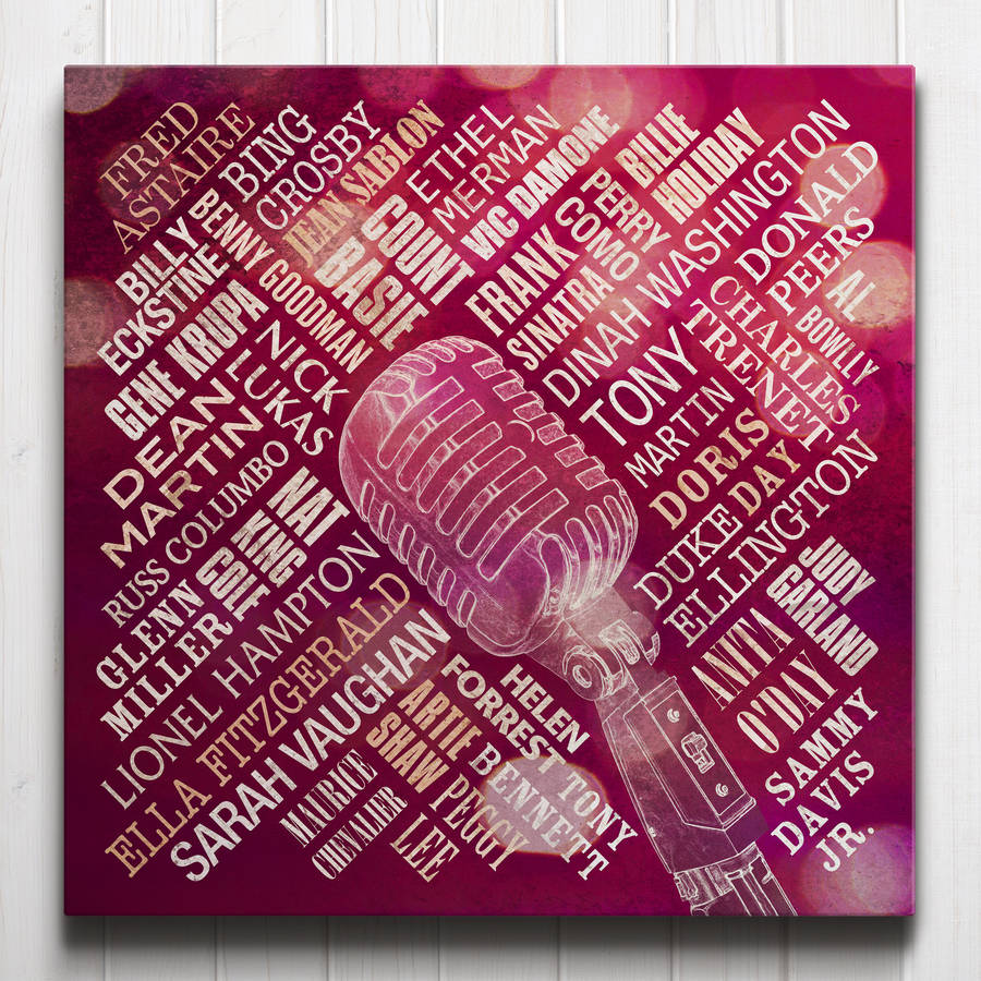 Swing Legends Canvas Coral