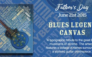 Father's Day Blues Legends Canvas