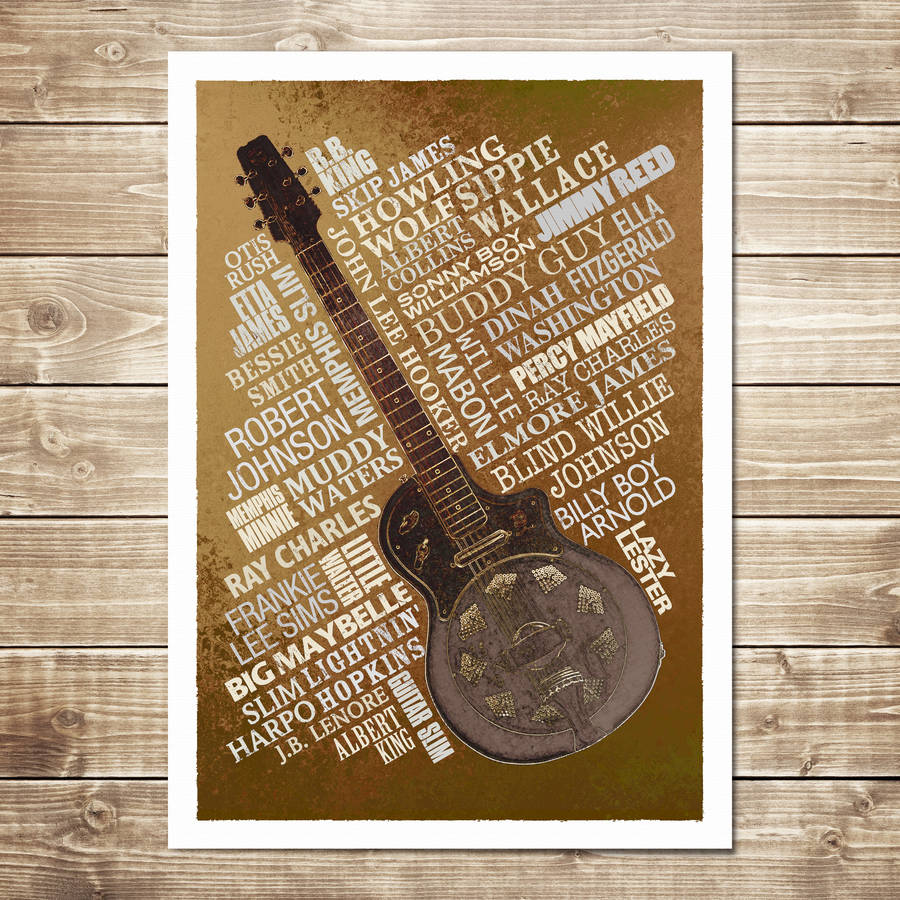 Blues Legends Print - Rust