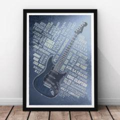 Guitar Legends Print - Steel