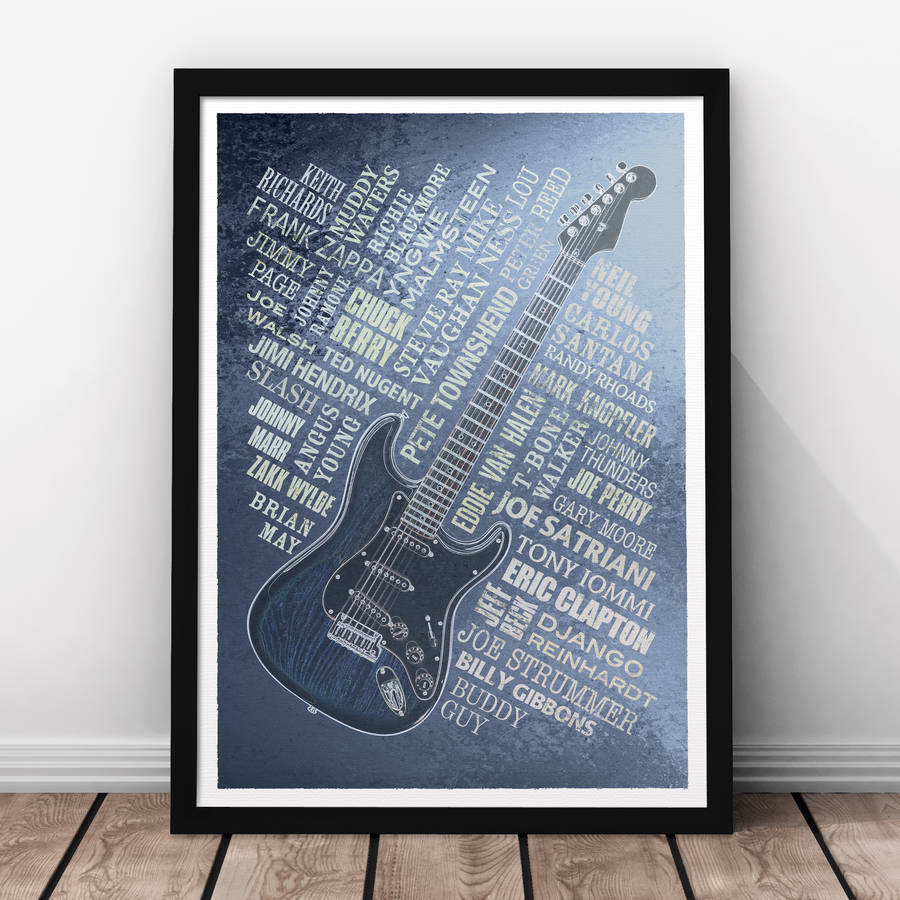 Guitar Legends Print - Steel