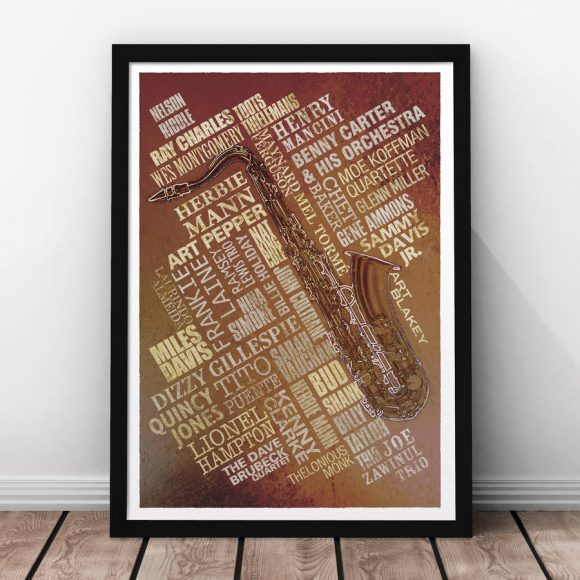 Jazz Legends Print - Rust