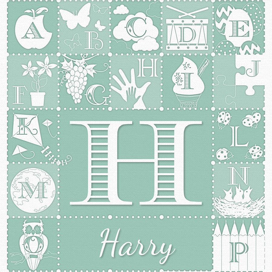 Personalised Alphabet ABC Print - Close Up