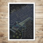 Rock Legends Print - Black