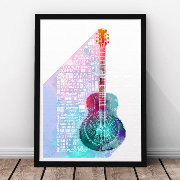Heroes of Blues Print Multicoloured