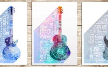 Heroes of Rock, Blues & Guitar Prints