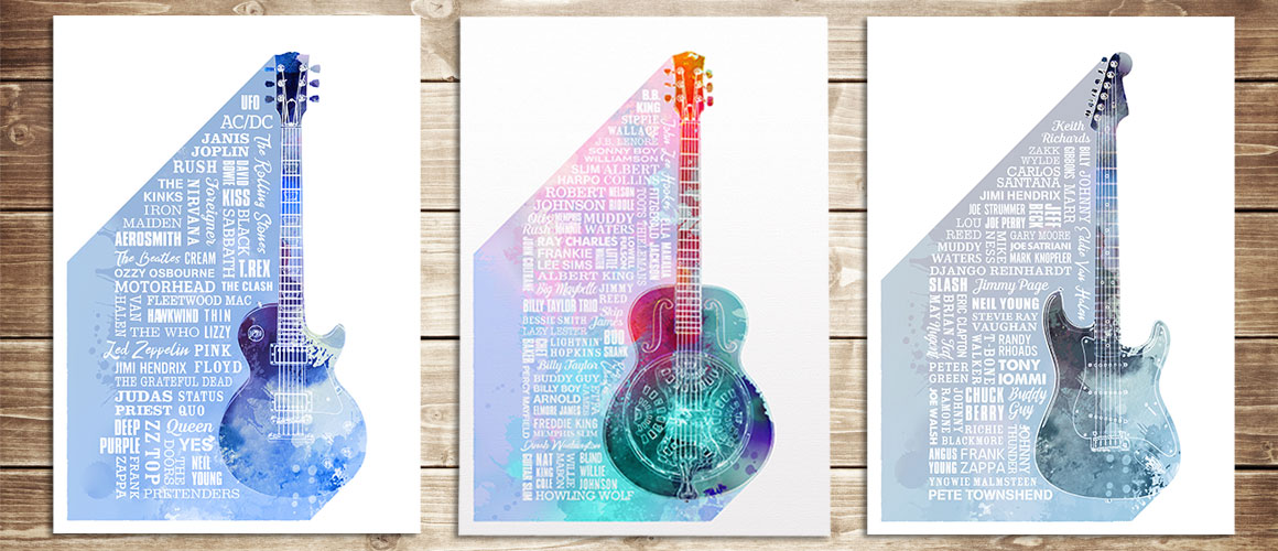 Heroes of Rock, Blues & Guitar Prints
