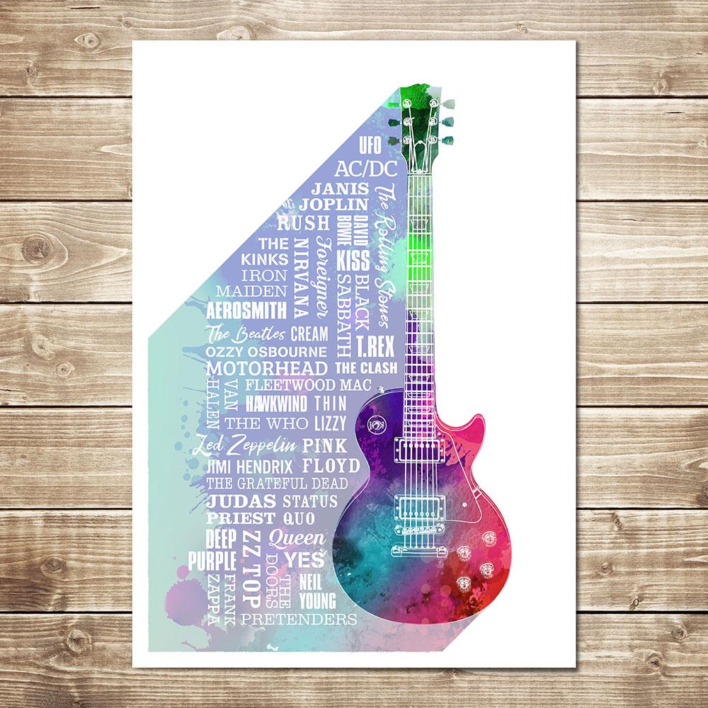 Heroes of Rock Print Multicoloured