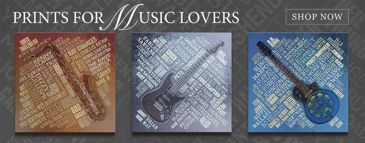 prints for music lovers carousel